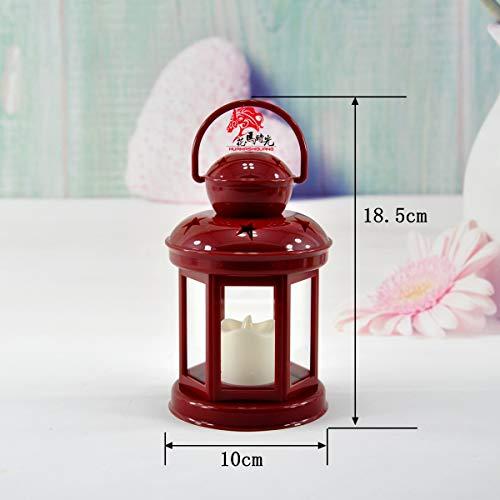 CFLFDC Kandelaar van veldveld, typhon, klassiek licht, verjaardag, huis, bruiloft, decoratieve kaars Modèle Électronique Rouge