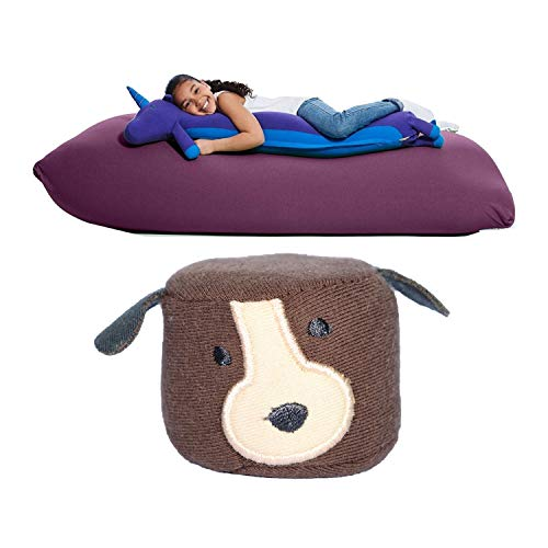Yogibo Roll Mate Animal Body Pillow for Kids w/Bonus Squeezibo - Unicorn & Dog (2 Items)