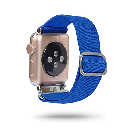 Correa elástica para Apple Watch Band 6 5 4 3 2 1 38mm 40mm 42 Mm 44mm Nylon Loop para Iwatch 6 Se 5/4/3 2 Pulsera de mujer-110,38mm 40mm