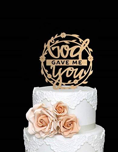 Soode slinger ontwerp God gaf me u bruiloft taart topper voor rustieke bruiloft decoratie taart deocrating