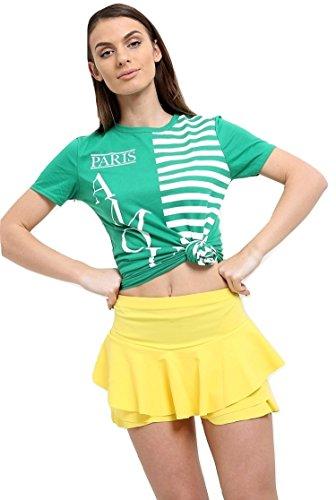 Momo&Ayat Fashions Dames Gestreepte Amour Parijs Slogan Gedrukt T Shirt UK Maat 8-14