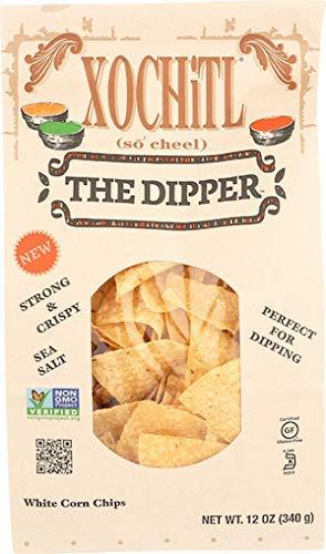 Xochitl White Corn Chips, Dipper, 12 oz (10 Bags)