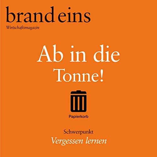 brand eins audio: Vergessen lernen audiobook cover art