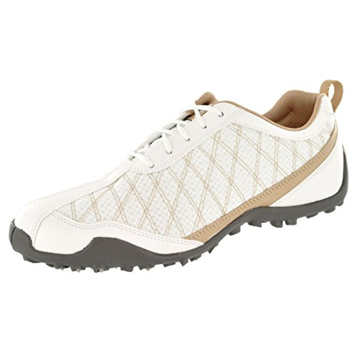 FootJoy Ladies Summer Series Golf Shoes 98847 White/Tan Womens 7.5 Wide