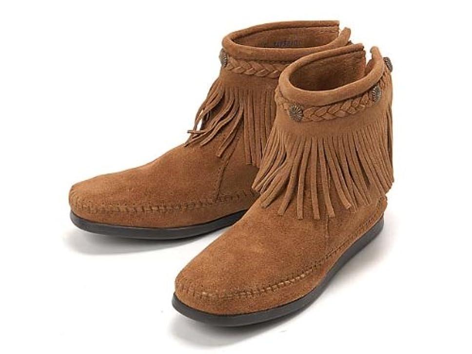 バラ色放棄された潜在的な(ミネトンカ) MINNETONKA ハイトップ バックジップ ショートブーツ Hi Top Back Zip Short Boot 297T TAUPE 5(22cm) [並行輸入品]