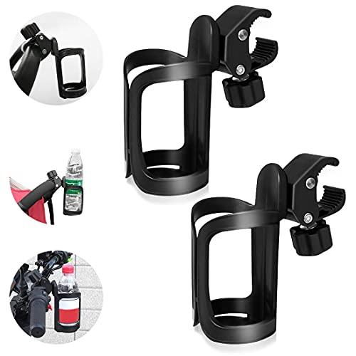 2 STK Fahrrad Getränkehalter, 360 Grad Rotation Getränk Flaschenhalter Kinderwagen Becherhalter Cup Halter für Fahrräder, Mountainbikes, Kinderwagen und Rollstuhl