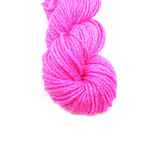 rongwen Acryl Strickwolle Garn für handgemachte Schal Pullover Garn mit Gold Line Rosa