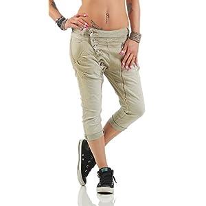Fashion4Young 11133 MOZZAAR Damen Jeans Röhrenjeans 7/8