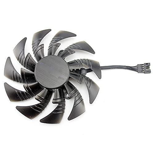 95mm T129215BU DC 12V 0.50AMP PLD10015B12H para GIGAYTE AORUS para GEFORCE GTX 1080 TI Xtreme Edition 11g Tarjeta de gráficos Ventilador de refrigeración (Blade Color : White)