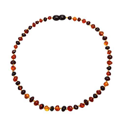 Pulsera de Ámbar de Oro/Collar Adulto Natural Piedra Amber Piedra Mujeres Joyería - Collar Adulto de 50 cm