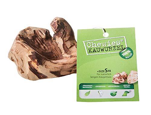 Chewies Kauwurzel für Hunde - Kauspielzeug aus Baumheide Wurzel - splitterfrei & 100% natürlich - für lang anhaltenden Kauspaß - Größe S