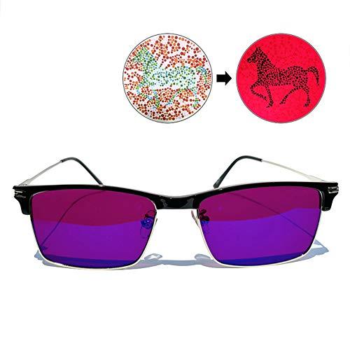 ZTGL Gafas Daltónicas de Color Rojo/Verde, Trastorno de la Visión del Color, Debilidad del Color, Lente de Resina Roja, para Exteriores e Interiores