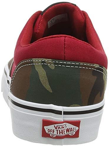 Vans Doheny, Sneaker Uomo, Misto Camo Peperoncino Bianco, 42 EU