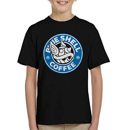 Cloud City 7 Blue Shell Coffee Starbucks Logo Parody Kids T-shirt