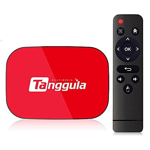 Tanggula X1 Series Android TV Box, 4GB+128GB Android 9.0 Smart 8K Media Player, Dual Band 2.4GHz/5GHz Bluetooth USB3.0 100M/1000M LAN Enternet