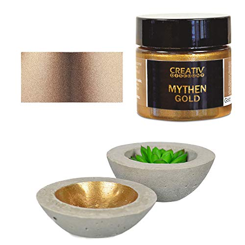 CREATIV DISCOUNT Mythen-Gold 45 ml, Metallic Deko- / Effektfarbe, Farbton Cappuccino
