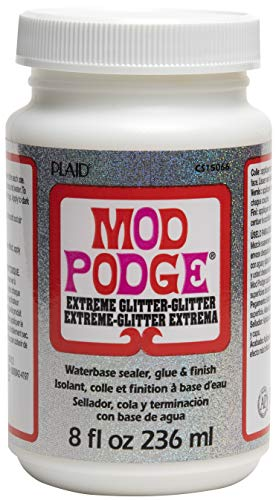 Mod Podge 8 oz Extreme Glitter, Synthetisches Material, Weiss, 10.8 x 6.4 x 6.4 cm