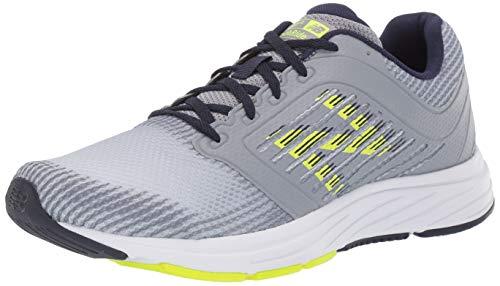 New Balance Men's 480 V6 Running Shoe, Steel/Hi Lite/Pigment, 7 4E US