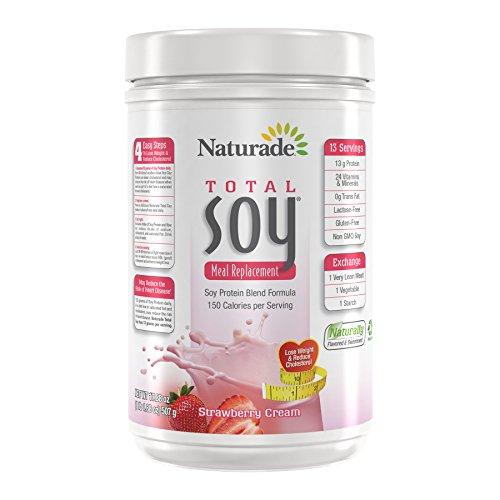 Naturade Total Soy All-Natural Powder – Strawberry Creme – 17.88 oz
