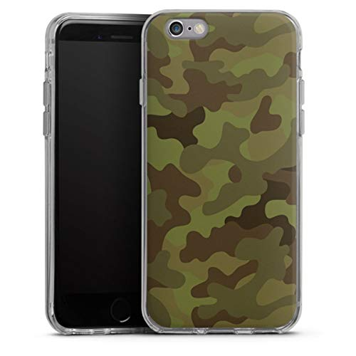DeinDesign Silikon Hülle kompatibel mit Apple iPhone 6s Case transparent Handyhülle Camouflage Tarnmuster Bundeswehr