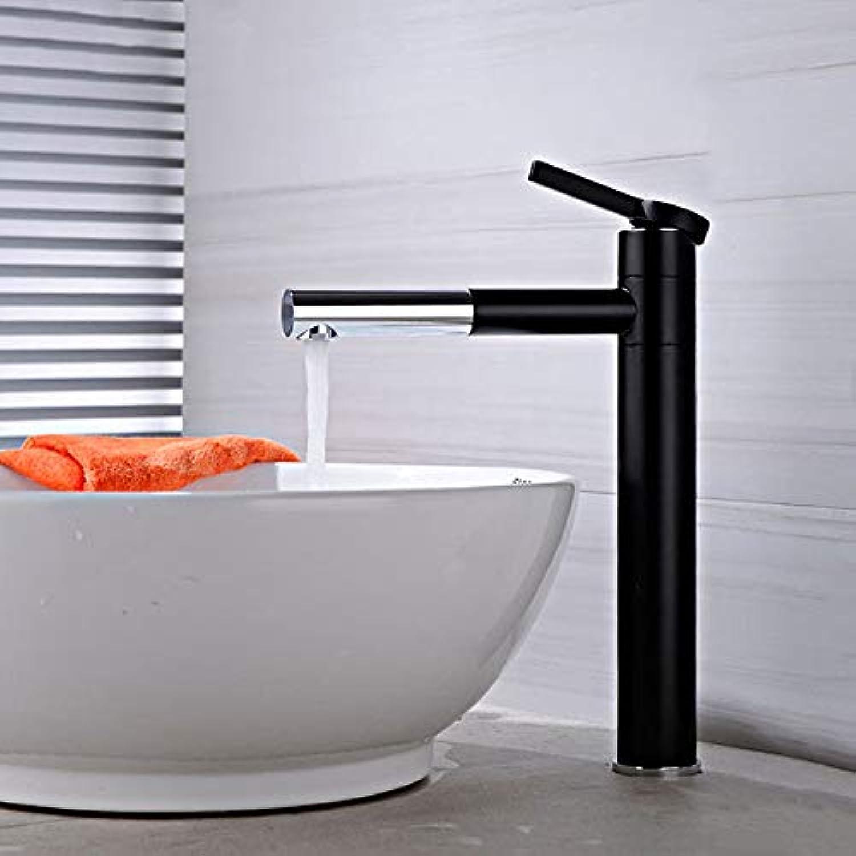 Waschtischarmatur Mattschwarzer Qualitts-Messingwaschbecken-Hahn-Doppelte Position Drehbare Hohe Badezimmer-Hahn-Mischer-Wasserhahn