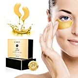 Under Eye Mask - 24K Gold Collagen Under Eye Patches for Dark Circles/Puffy Eyes/Wrinkles/Bags Under Eyes, Hydrated...