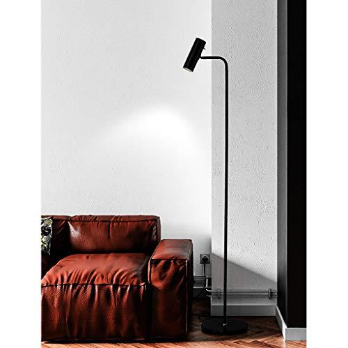 Lámpara de pie LED Regulable, 12W LED, Soporte de lámpara giratoria de 270 Grados, lámpara de pie para Lectura, Costura y artesanía (Color : Negro)