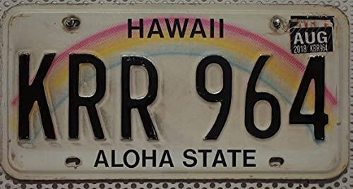 Original Nummernschild HAWAII : Auto-Kennzeichen US License Plate : USA Metallschild : KFZ Schild