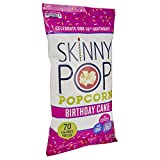 Family-size sharing bag of SkinnyPop popcorn Birthday cake flavor Ready-to-eat popcorn is perfect for parties, family picnics, movie nights or game nights Gluten-free snack with no artificial colors, flavors or ingredients