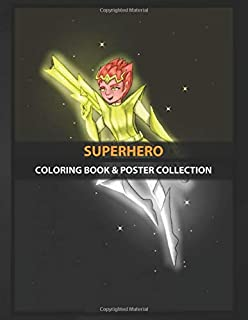 Coloring Book & Poster Collection: Superhero This Superhero Ends The Procrastination She Has A Gun Cartoons