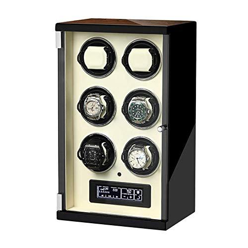 ZHANGYH Vibrador de Reloj mecánico Enrollador automático de Reloj con Pantalla táctil LCD con luz de Control Remoto Motor silencioso Almohadas de Reloj Flexibles para ho