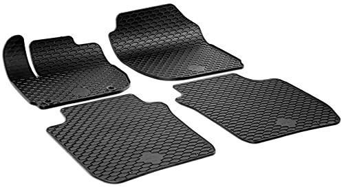 WALSER Alfombrillas de goma a medida RubberLine compatible con Honda Jazz IV 09/2013-Hoy, Honda HR-V (RU) 11/2014-Hoy, Honda Jazz V 02/2020-Hoy