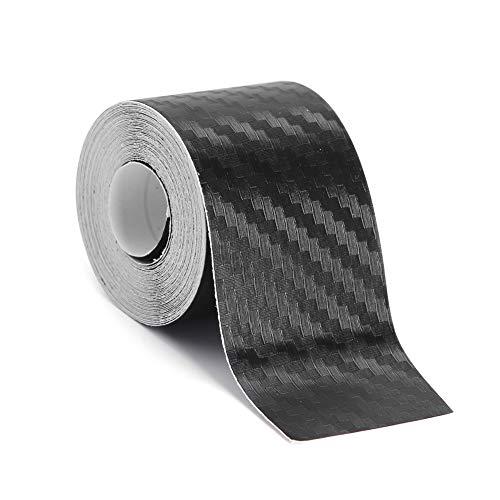Tuankay 3D Autofolie Carbon Vinyl Wrap Carbon Folie 3D Struktur fühlbare Struktur selbstklebend Carbonfolie Auto Klebe Folie folieren (3cm*3M)