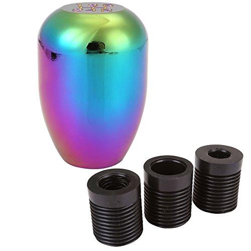 ACBungji Schaltknauf Schaltknäufe 5 Gang Aluminium Neon-Chrom Universal Manuelles Getriebe Ohne Sperrknopf (1#)
