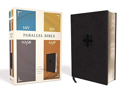 Parallel Bible: New International Version, King James Version, New American Standard Bible, Amplified Bible, Parallel, Black, Leathersoft, Four Bible Versions Together for Study and Comparisonの詳細を見る