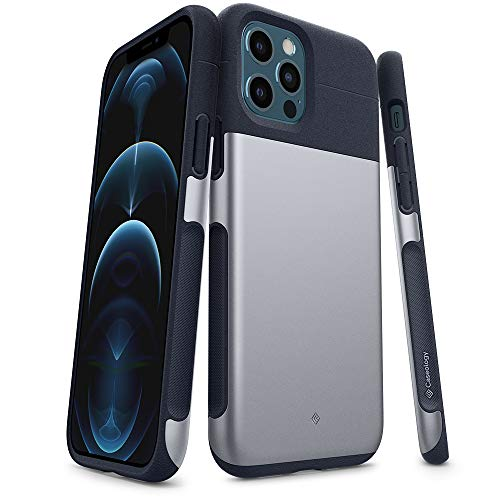 Caseology Legion Compatible with iPhone 12 Pro Case Compatible with iPhone 12 Case (2020) - Stone Navy