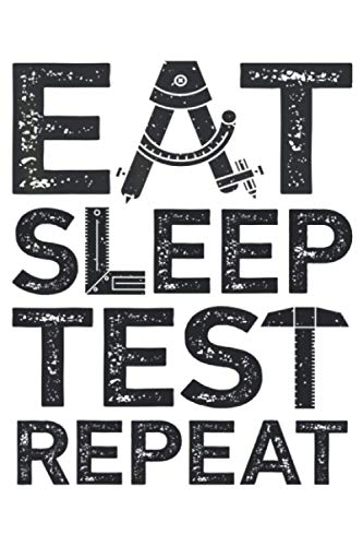 Eat Sleep Test Repeat Funny QA Engineer Software Bug Hunting: Notebook Planner -6x9 inch Daily Planner Journal, To Do List Notebook, Daily Organizer, 114 Pages