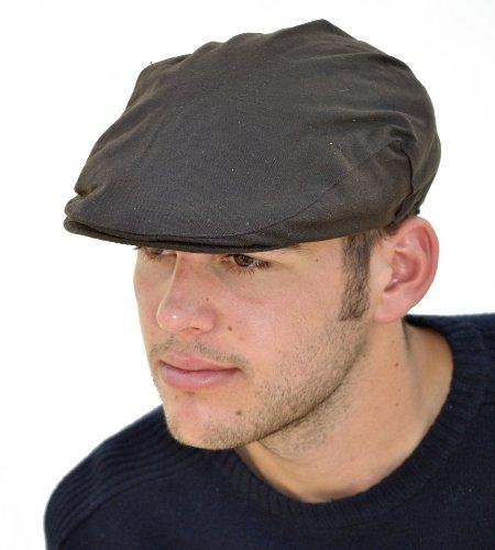 I-Smalls Casquette Plate Cirée Homme avec Doublure Thinsulate Laine Polaire (Marron) 59cm