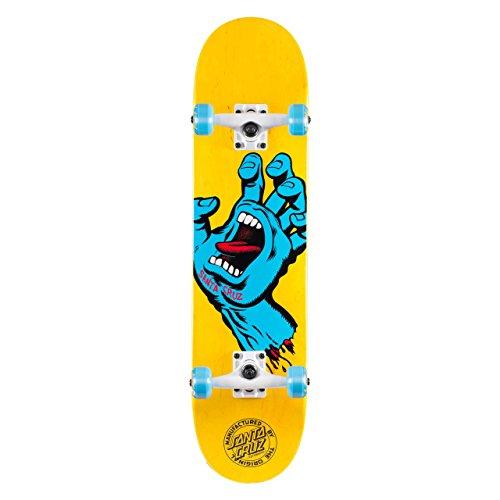 SANTA CRUZ 'Screaming Hand' Pre-Built Complete. Yellow/Blue - 7.5'