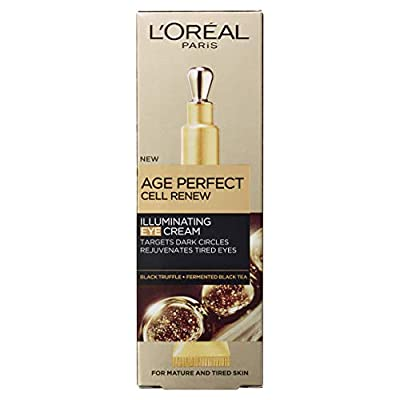 L'Oreal Paris Age Perfect Cell Renew Illuminating Eye Cream with Cooling Applicator for Mature Skin 15 ml by Loreal