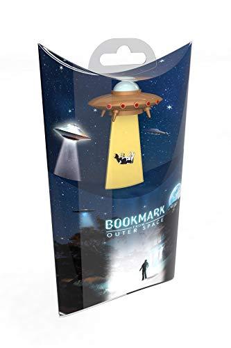 UFO Bookmarks Lesezeichen - Gold: Intergalaktisches Einstecklesezeichen