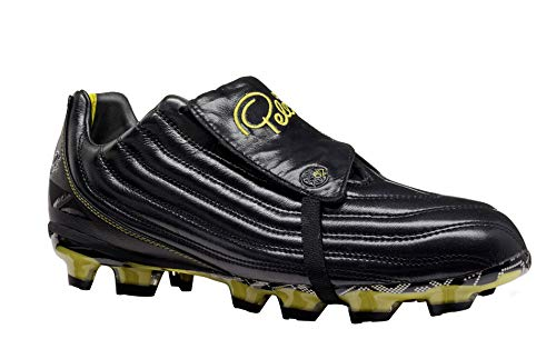 Pelé Sports Men s Football Boots - Botas de fútbol para Hombre PELÉ 1962 FG MS (Black Yellow, 42)