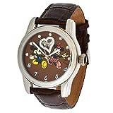 Walt Disney automatico in acciaio inossidabile 3ATM Mickey & Minnie Mouse Swarovski pietre e cinturino in pelle