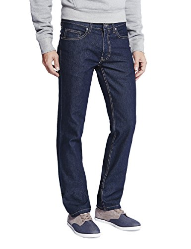 Oklahoma Jeans Herren R140 Straight Jeans, Blau (Dark Blue 002), W40/L32