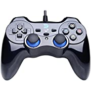 IFYOO ZD-V+ Vibration-Feedback USB Wired Gamepad Controller Joystick Support PC(Windows XP/7/8/8.1/10) & PS3 & Android (PS architecture) - [Black]