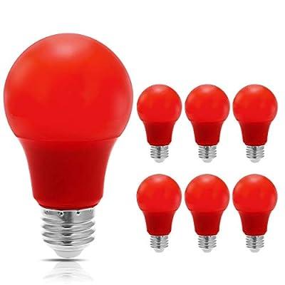 JandCase LED Red Light Bulbs