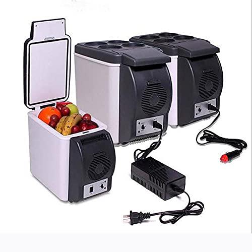 Mini refrigerador 6-10 litros / 6-10 latas Cooler & Warmer Fridge Frigorífico Portátil AC/DC Mini refrigerador para automóvil y hogar, Termoeléctrico Frigorífico Compacto para Skincare & Cosmetics