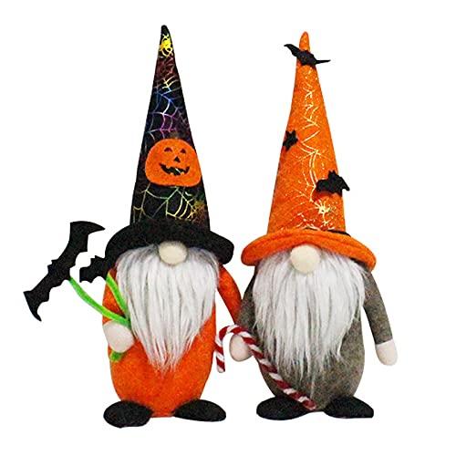 GLAITC Gnomo Senza Volto Bambola 2 Pezzi Bambola Senza Volto di Halloween Gnomo Fatto a Mano di Halloween Bambola di Peluche Gnomi Ornamento Decorazione per Halloween Babbo Natale Ornamento