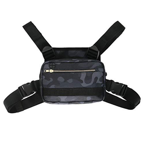 WOYA Hunting Camo Stealth Tape Silencer Autoadhesivo No Tejido Parche de Camuflaje Patrón de pitón Negro, 15 × 18cm, Bolsa de Deporte
