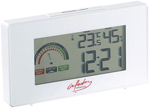 infactory Uhr Thermometer: Digitaler Funkwecker mit Thermometer und Hygrometer (Uhr Digital)